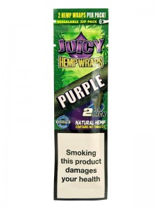 Bibułka Blunt Wrap JUICY HEMP purple 2 szt