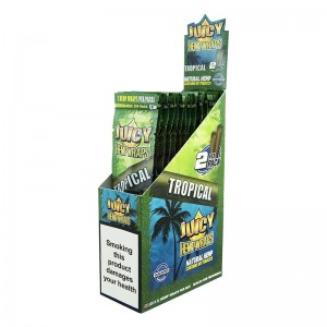 Bibułka Blunt Wrap JUICY HEMP tropical 2 szt BOX25