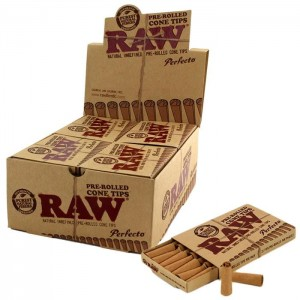 Skręcone filterki RAW PREROLLED CONE TIPS BOX 20